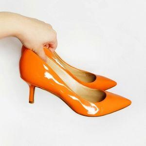 MARC FISHER Orange Pointed Toe Heels